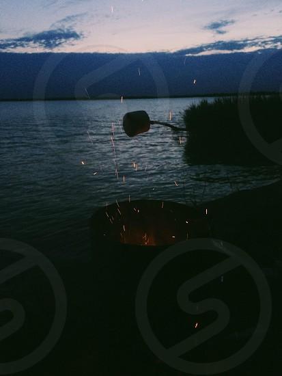roasting marshmallow photo