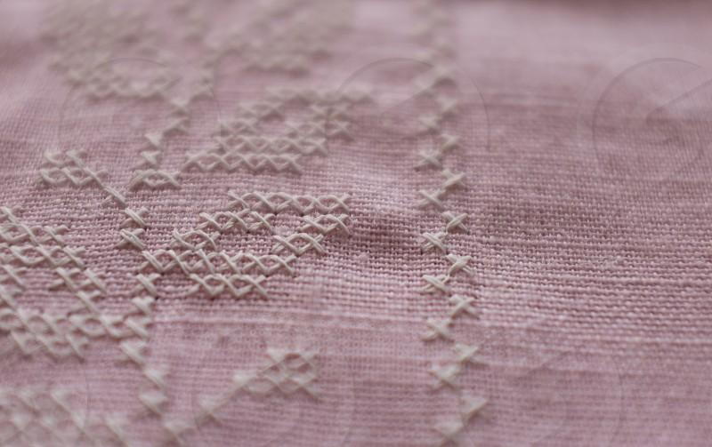 purple textile photo