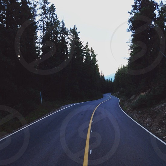 concrete road photo