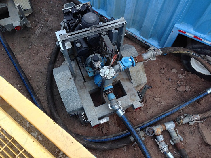 Diesel powered water pump.  photo