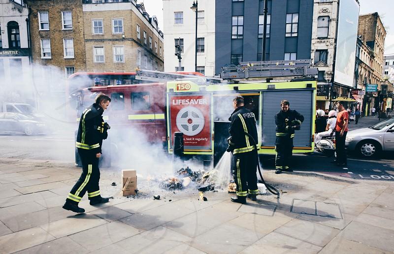 london street photography fire photo