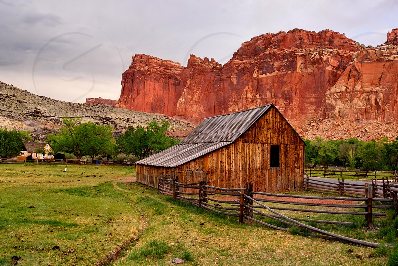 The Gifford Homestead in Capitol Reef National Park Utah. photo