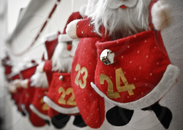 Advent calendar garland. photo