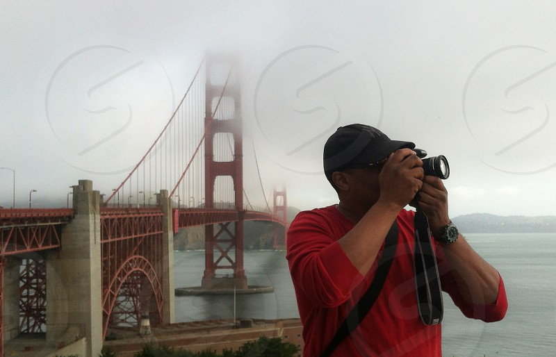 Golden Gate Bridge San Francisco Photographer Camera Fog California photo
