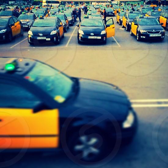 Taxi rank Barcelona Spain  photo