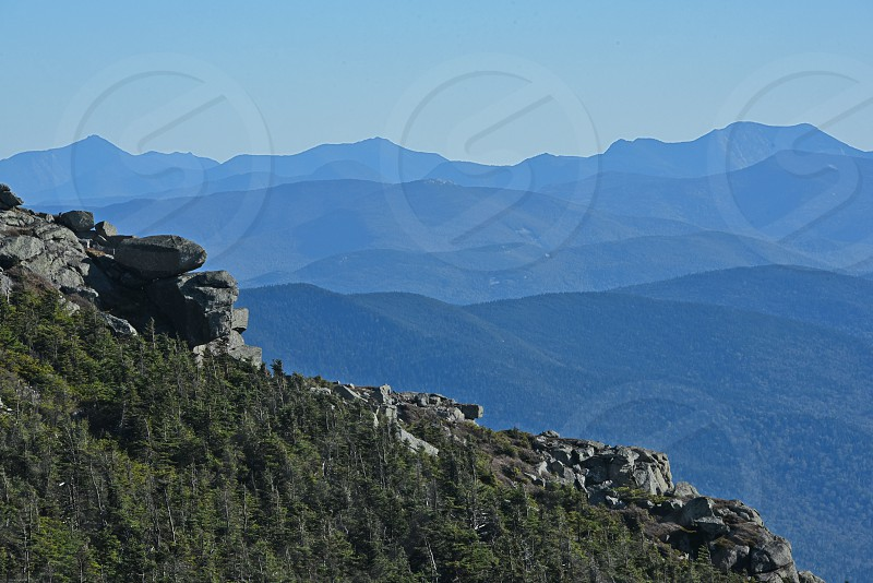 Adirondack mountain views in fall. White Face Mountain Summit. photo