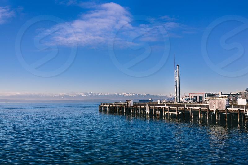 Sea shore Seattle landscape water Marina  photo