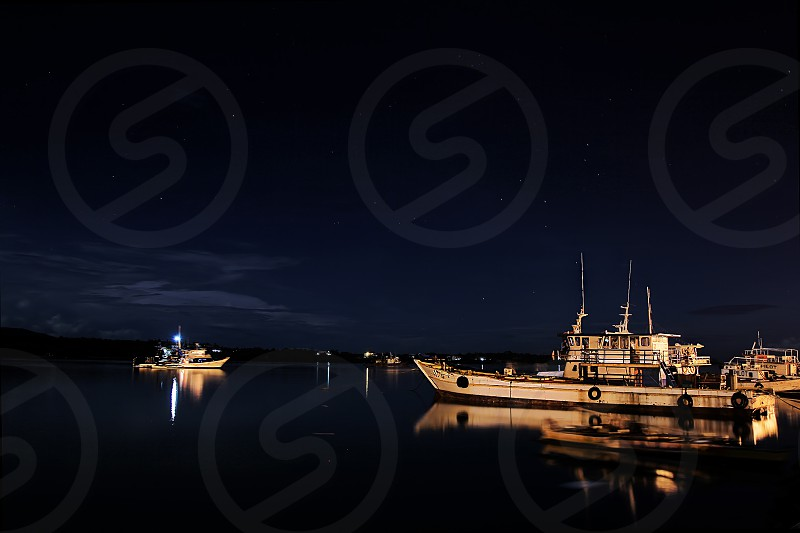 Tagbilaran Wharf at Night photo
