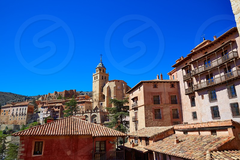 Albarracin medieval town village at Teruel Spain photo
