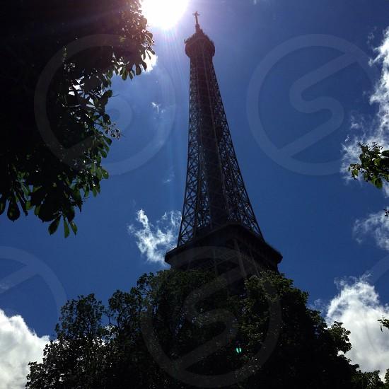 Chasing Light LisAm Sun Light Tree Tower Architectural Symbol Paris France Tree Clouds Sky photo