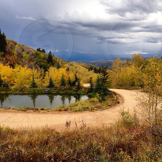 Park City UT Tollgate Canyon in the fall photo