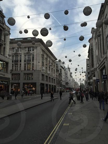 Oxford Street Christmas lights photo