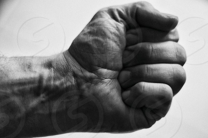 Fist hand strength anger man manly hold  photo