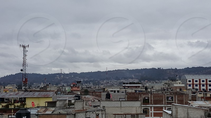 Guatemala City Rustic Mountains Sky Buildings Roof Aerial photo