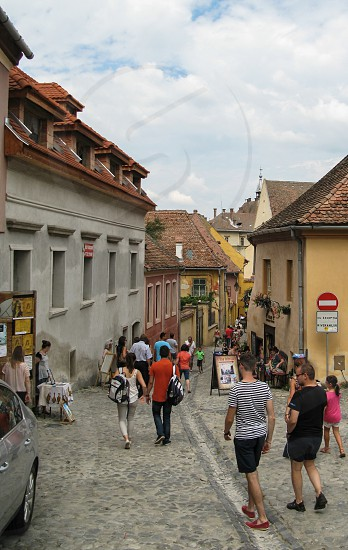 Sighişoara Medieval Fortress (UNESCO Protected City) - Sighisoara City Mures County Romania 400m 26-07-2014 photo