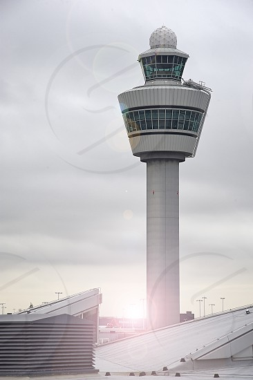 Control tower at Schiphol airport in the Netherlands photo