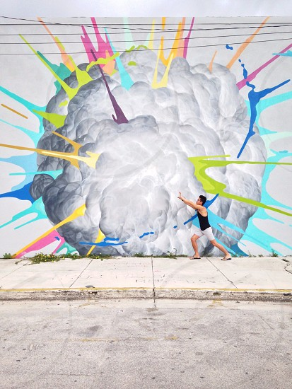 Wynwood is more or less the Brooklyn of Miami where creativity in public spaces thrives. I wish I knew the name of the artist that canvased this masterpiece but that's also the beauty of it. The artwork in this neighborhood are breathtaking and steps away from Panther Coffee probably Miami's best coffee shop. @andrewbchoi is featured in this photo. photo