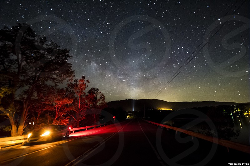 The Milky Way over Raystown Lake in Pennsylvania  photo