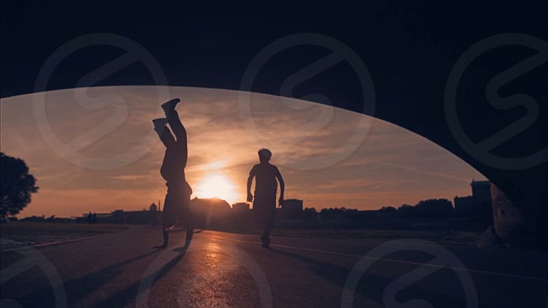 free travel fun explore running silhouette afternoon sun playing  photo