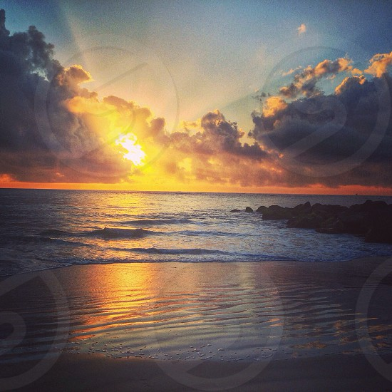 The sunrise on Vilano beach. photo