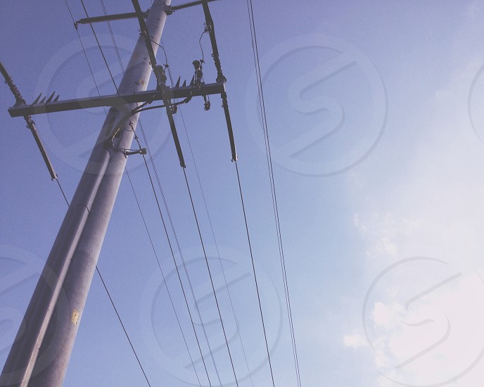 gray telephone pole  photo