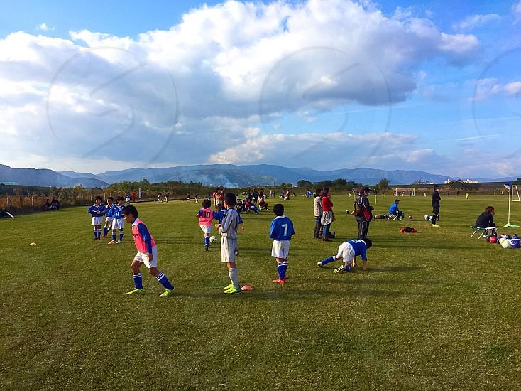 少年サッカーの練習風景 photo