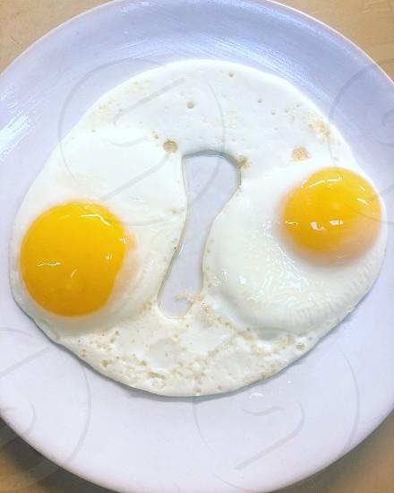 Sunnyside up eggs breakfast brunch photo