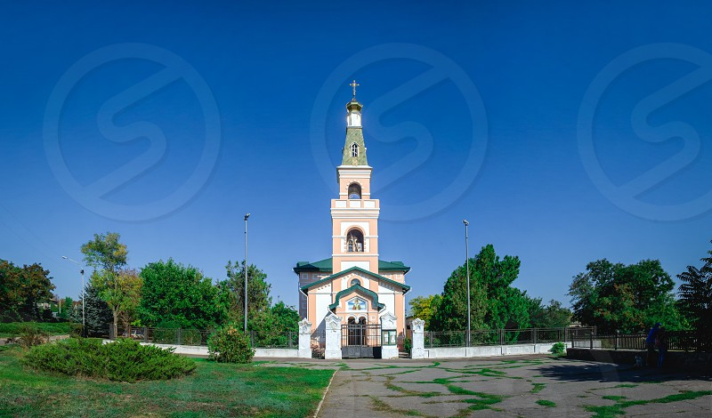 Ochakov Ukraine - 09.22.2018. St. Nicholas Cathedral in Ochakov  seaside town in Odessa province of Ukraine on the country's Black Sea coast. photo