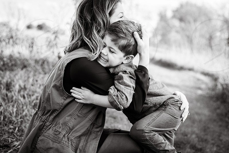 Just a momma and her boy. photo