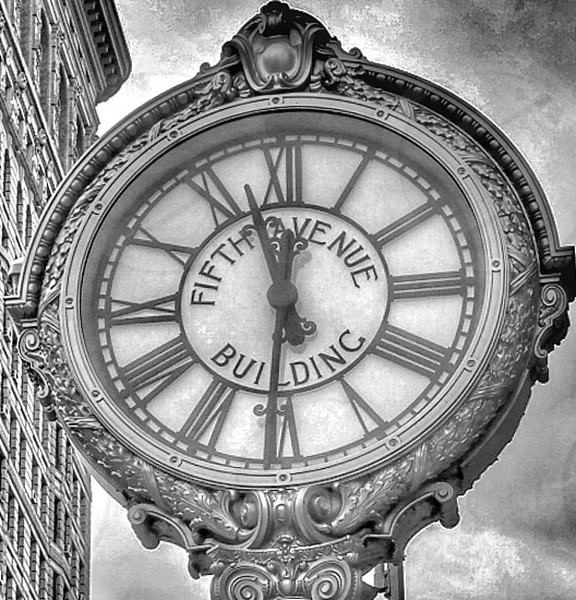 Once upon a timeFlatiron buildingclockNew York photo
