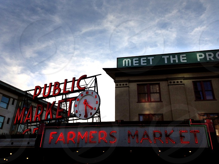 public market sign photo