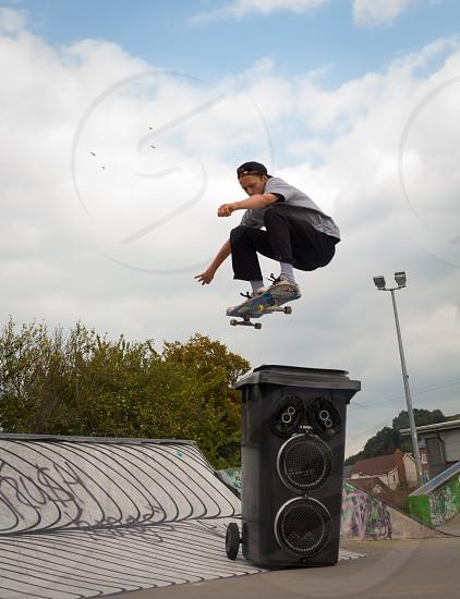 Bailey Marklew - Ollie over speaker bin photo