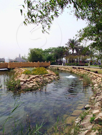 View on artificial lake of AlAzhar Park photo