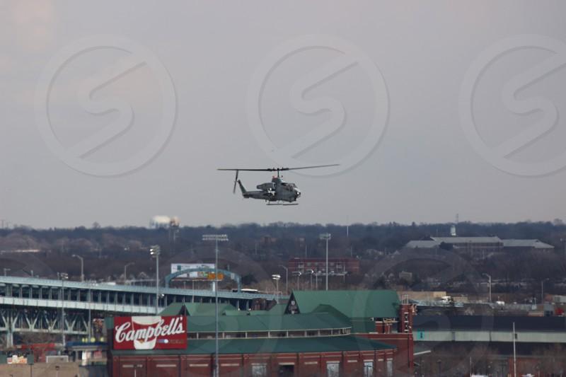 Cobra landing on the USS Somerset in Philadelphia PA photo