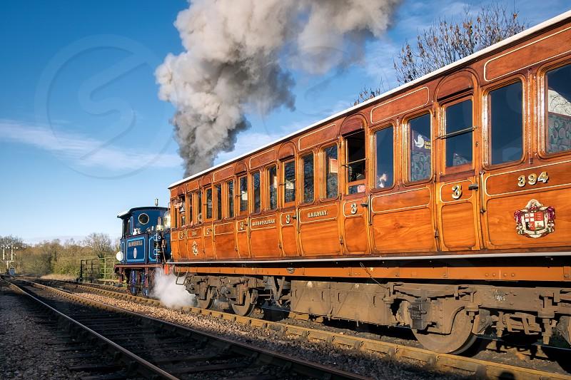 Bluebell Leaving Sheffield Park Station photo