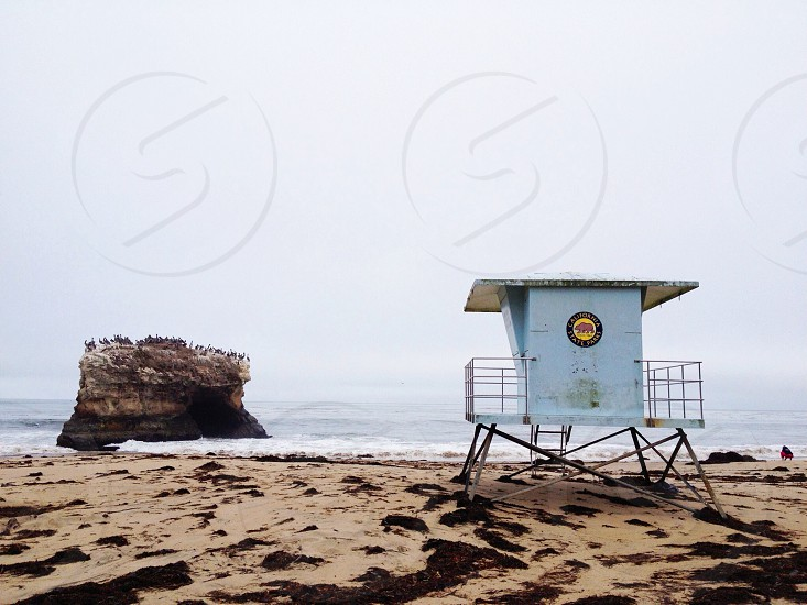 square white beach watch station photo