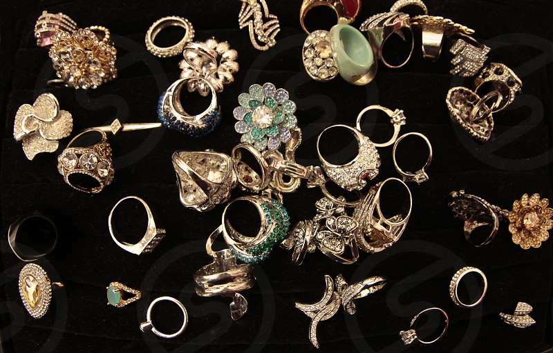 Gold rings and jewelry ready to be sold photo