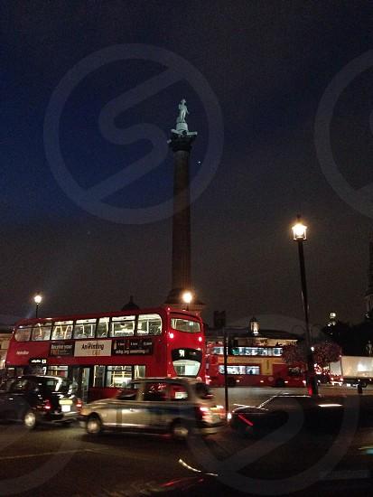 Fast pace nighttime London  photo