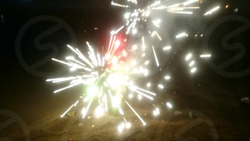 firewoks white photo