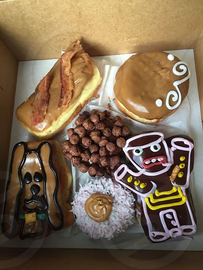 Gourmet doughnuts Voodoo doughnuts Portland Oregon photo