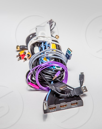 Bundle of digital wiring photo