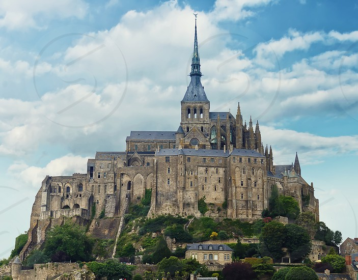 View at Mont Saint Michel Abbey France photo