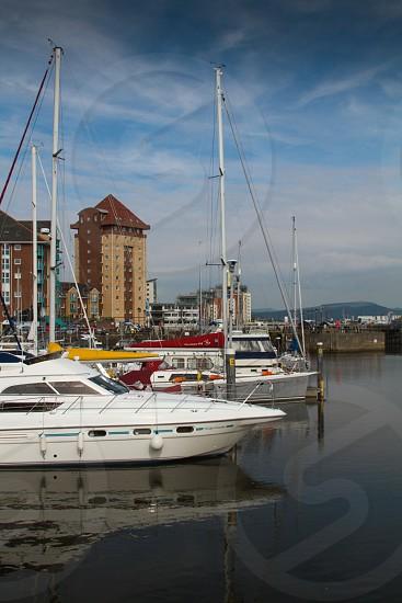 Docklands renewal Swansea Wales photo