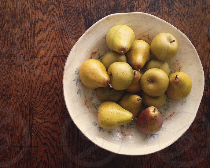 asian pears in bowl photo