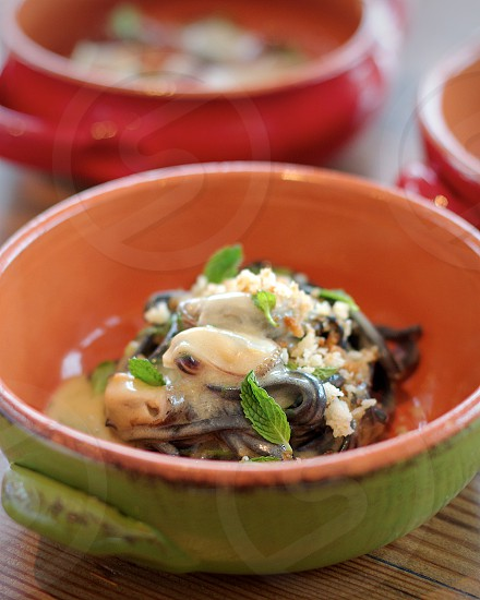 A Mano Philadelpia – squid ink chitarra w/ sea urchin lemon breadcrumbs mussels & mint photo