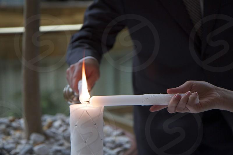Wedding eternal flame. photo