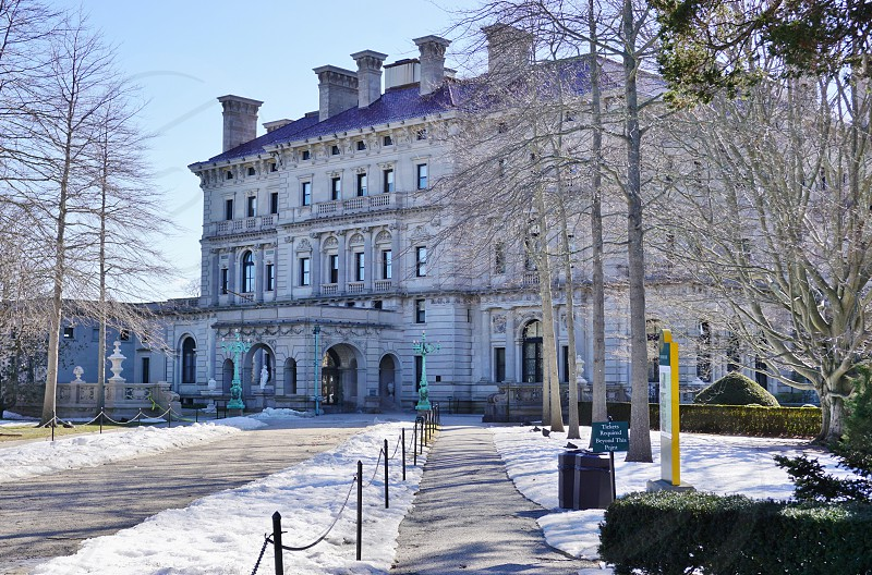 The Breakers historic mansion in Newport Rhode Island photo
