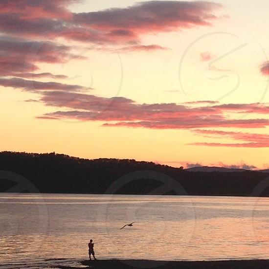 Scottish sunset photo