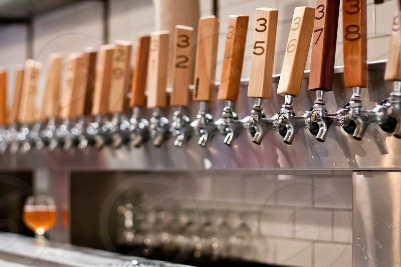 Beer taps Beer Craft Beer Bar Too many options photo