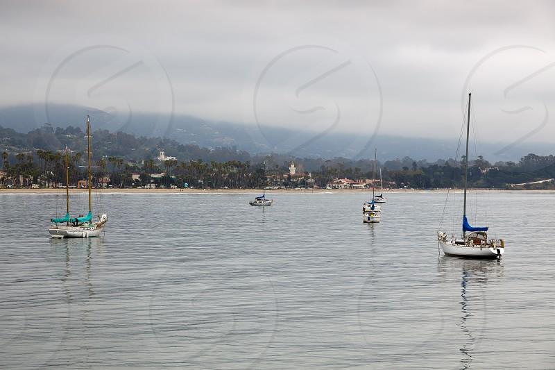 Yachts Anchored off Santa Barbara photo